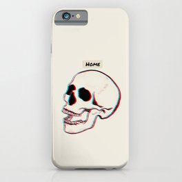 3D Psychedelic Home Skull  iPhone Case
