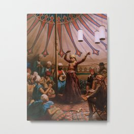 Egyptian dancer in a tent Metal Print