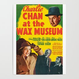 Charlie Chan at the Wax Museum, vintage movie poster Poster