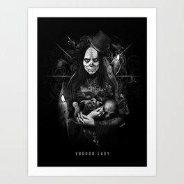Voodoo Lady Art Print