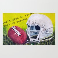 football Area & Throw Rugs featuring Football by A Calcines