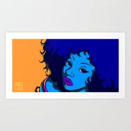 Blue Girl Art Print