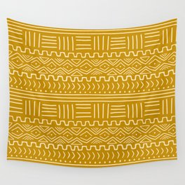 Mud Cloth on Mustard Wall Tapestry
