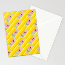 Pencil Pattern Stationery Cards