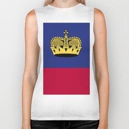 Liechtenstein flag emblem Biker Tank