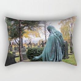 "Dietro la chiesa (Oslo) ""A SAFE PLACE"" series Rectangular Pillow"