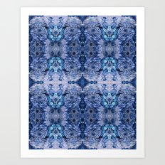 Frozen floral, nature, woodland, hippie, mandala, psychedelic Art Print