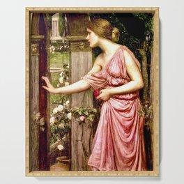"""Psyche Entering Cupid's Garden"" by John William Waterhouse 1903 Serving Tray"