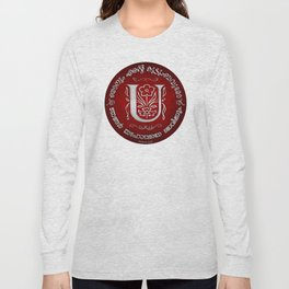 Joshua 24:15 - (Silver on Red) Monogram U Long Sleeve T-shirt