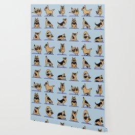 German Shepherd Yoga Wallpaper
