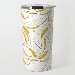 Gold flowers Travel Mug