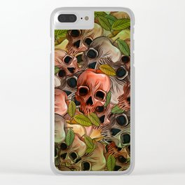 Apple Skull Clear iPhone Case