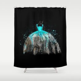 Evening Gown Fashion Illustration #2 Shower Curtain