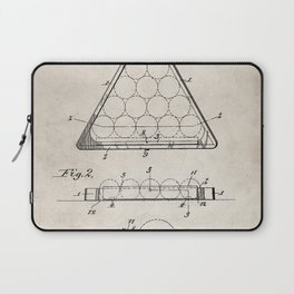 Pool Patent - Billiards Art - Antique Laptop Sleeve