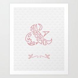 & Scallop: Pink Art Print
