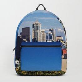 Seattle Overlook with Mt Rainier Backpack