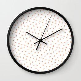 Sweet Peach Polka Dot, White Wall Clock