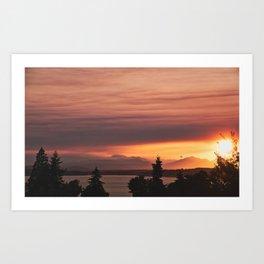 Smoky Sunset Art Print