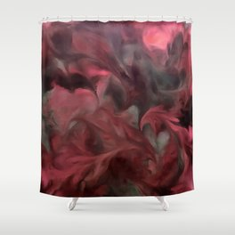 Jack Frost In Coral and Green Shower Curtain