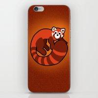 ferret iPhone & iPod Skins featuring Fire Ferret by  terrorbunnystudios
