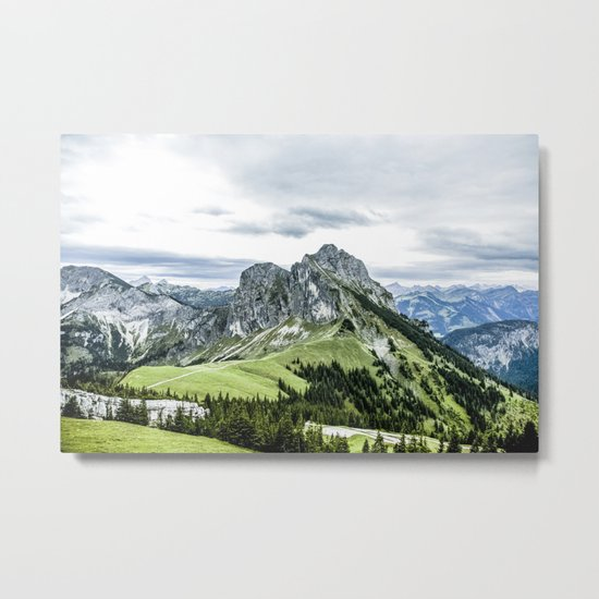 Mountain and Valley  Metal Print