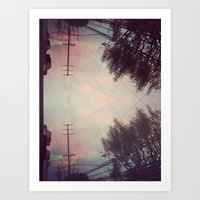 pink cloud dream Art Print