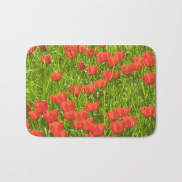 tulips field Bath Mat