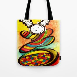 Jumping in  trampoline Tote Bag