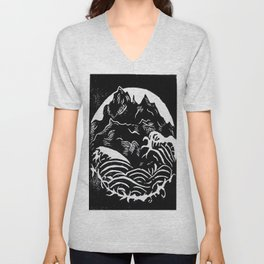 Black Mountains Unisex V-Neck