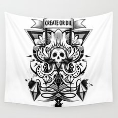 Create or Die Wall Tapestry