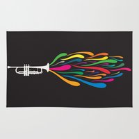 trumpet Area & Throw Rugs featuring A Trumpet by Halamo Designs