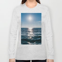 Sea Blue Sky sun Long Sleeve T-shirt