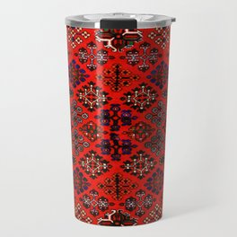 -A30- Red Epic Traditional Moroccan Carpet Design. Travel Mug