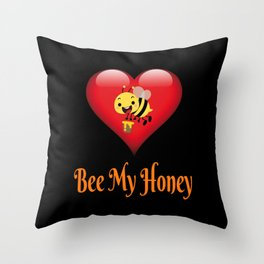 Bee My Honey Save The Bees Gift Throw Pillow
