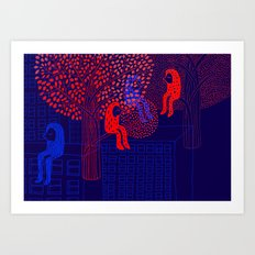 Forrest people Art Print
