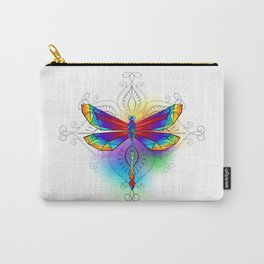 Bright Polygonal Dragonfly Carry-All Pouch