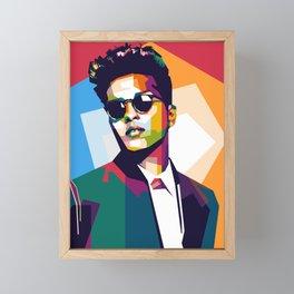 Potrait Artist IN WPAP Framed Mini Art Print