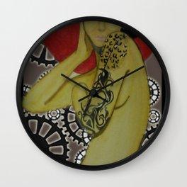 Steampunk Delilah Wall Clock