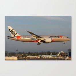 VH-VKA landing at dusk Canvas Print