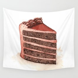 Chocolate Layer Cake Slice Wall Tapestry