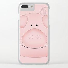 Pink piggy. Clear iPhone Case