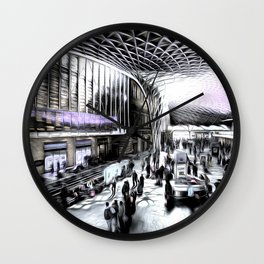 Kings Cross Station London Art Wall Clock