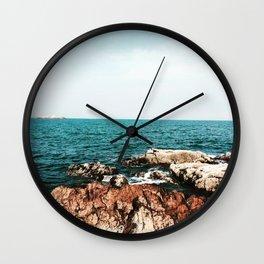 Marblehead on the Rocks Wall Clock