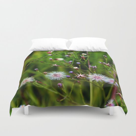 I'd rather be a weed than smell of roses cultured seed Duvet Cover