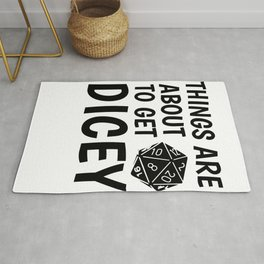 Gamer Dice Dungeon RPG Tabletop funny gift Rug