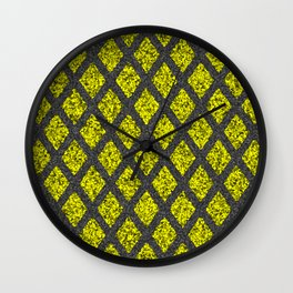 black gold rhombus Wall Clock
