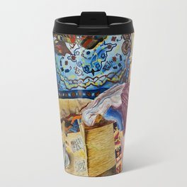 Turkish Rug Weaver by Nadia J Art Travel Mug
