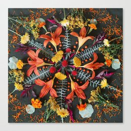 Nature Mandala: July Canvas Print