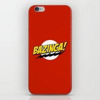 bazinga iPhone & iPod Skins featuring Bazinga! by WaXaVeJu