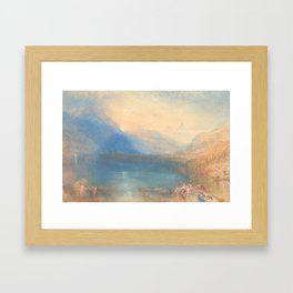 The Lake of Zug by Joseph Mallord William Turner 1843, British Framed Art Print